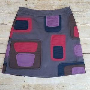 Boden Geometric Patch Skirt